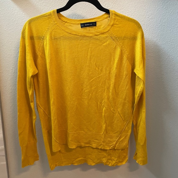 Zara lightweight yellow marigold sweater, size S